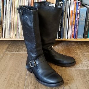 FRYE Veronica Slouch Boot, 8.5M, Black Leather